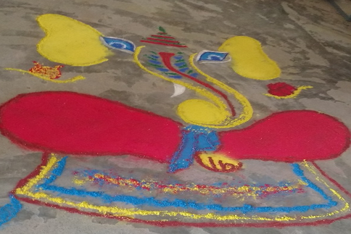 Nivedita Senior Secondary School-Rangoli