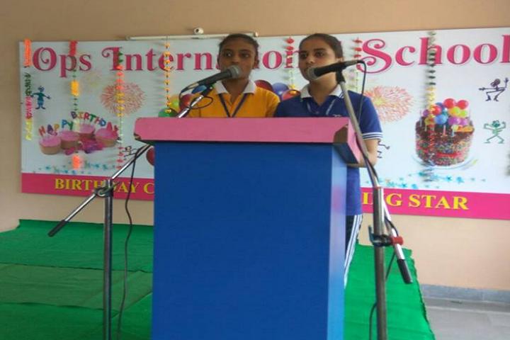 OPS International School-English Declamation
