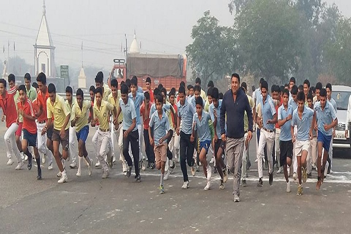 Om Shanti Shiksha Sadan Senior Secondary School-Run for Unity Program