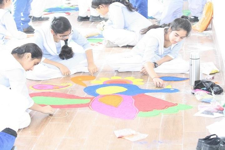 Parth Public School-Rangoli Competition