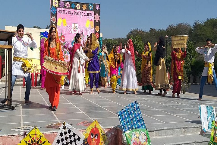 Police Dav Public School-Basant Panchmi Celebrations