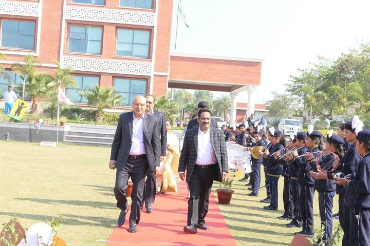 Prayaag International school-Guest Welcoming Ceremony