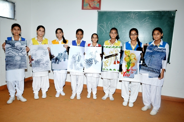 S D Model Senior Secondary School-Drawing Competition