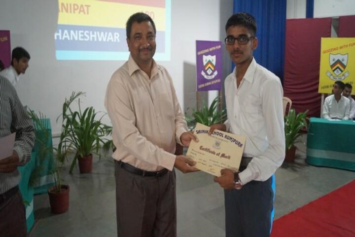 Sainik School-Inter College Quiz Competition