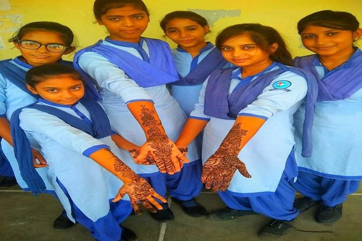 Sanskar Senior Secondary School-Mehandi Competition