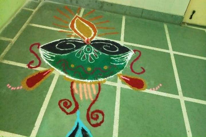 Sanskriti Convent School-Rangoli Competition