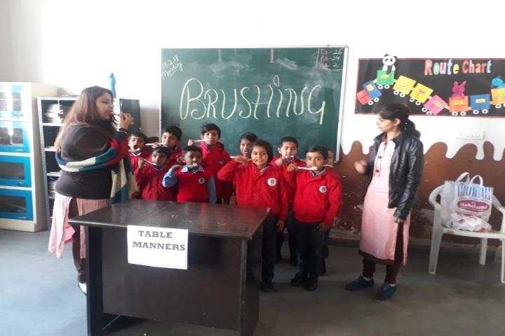 Sanskriti Public School-Brushing Activity