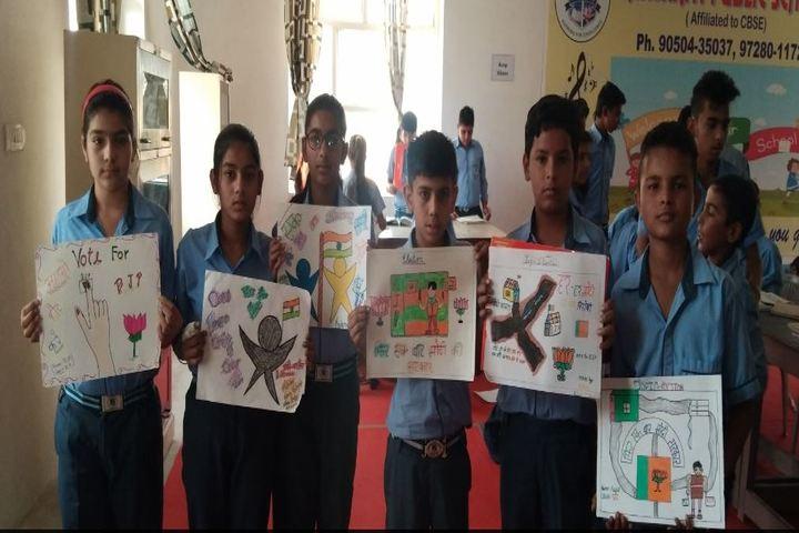 Sanskriti Public School-Drawing Activity