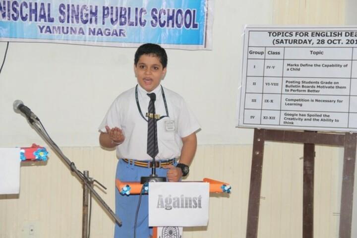 Sant Nischal Singh Public School-Debate