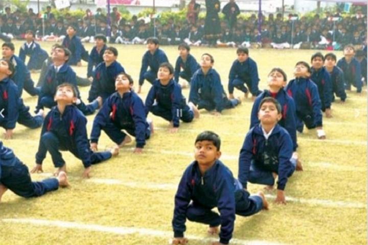 Saraswati Shiksha Sansthan High School-International Yoga Day