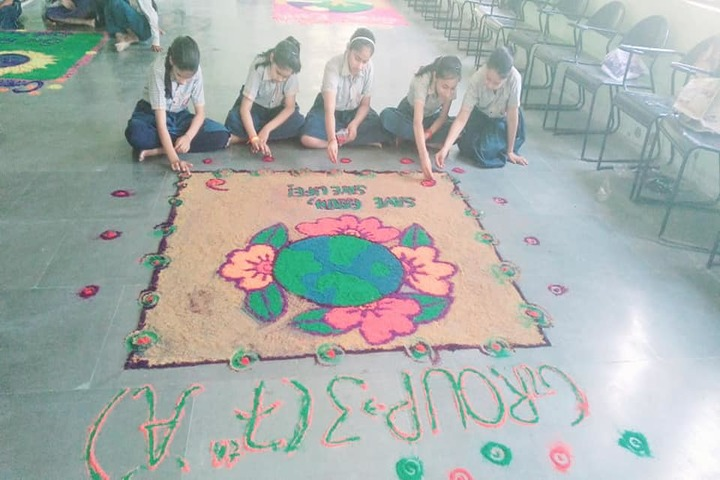 Sarv Vidya Public School-Rangoli Competition