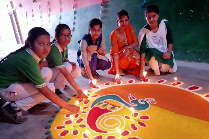 Swami Vivekanand High School-Rangoli Competition