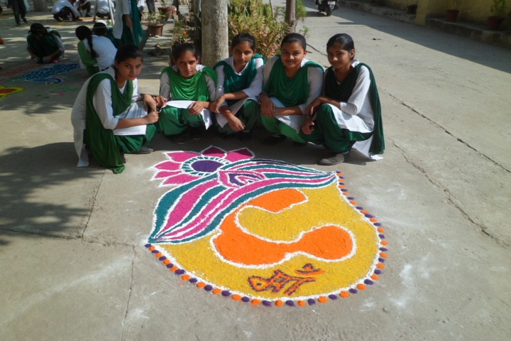 The Nature Way High School-Rangoli event