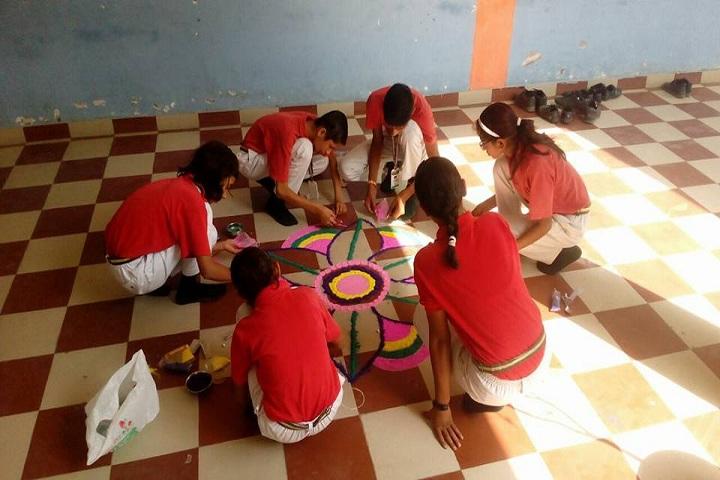 Vedanta International School-Rangoli competition