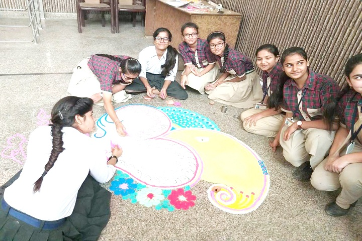 Vidya Anand Public School-Rangoli Event