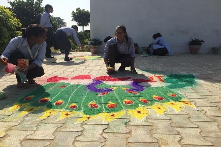 Vivekanand Senior Secondary School-Rangoli Competition