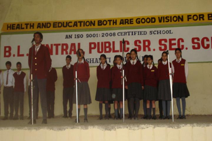 B L Central Public School-Music Activity