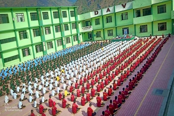 D A V Public School-Yoga Day