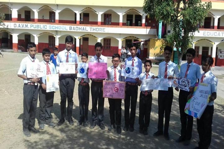 D A V M Public School-Awareness Campaign