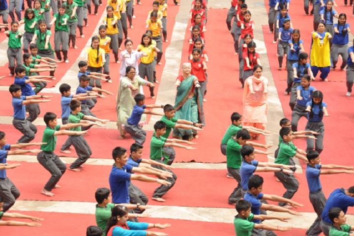 M R A D A V Publilc School-Yoga Day