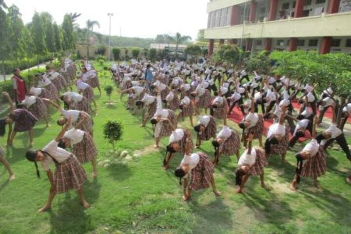 Rudra International School-Yoga Activity