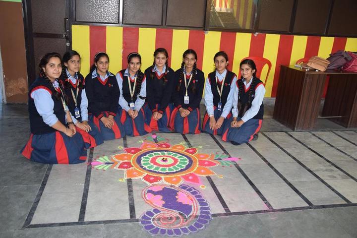 Seven Star Senior Secondary Public School-Rangoli Competition