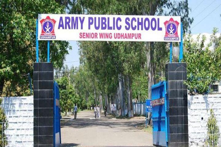 Army Public School-Campus Entrance View