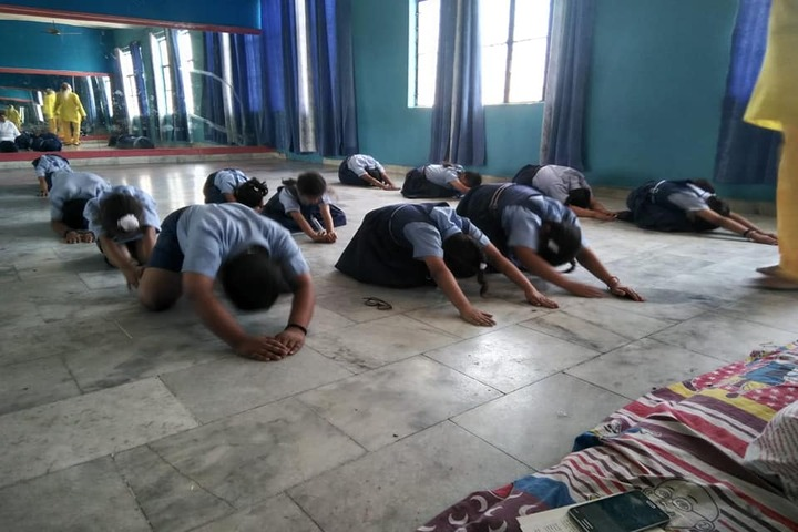 DAV Colligiate School-Yoga Activity