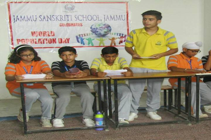Jammu Sanskriti School-Population Day