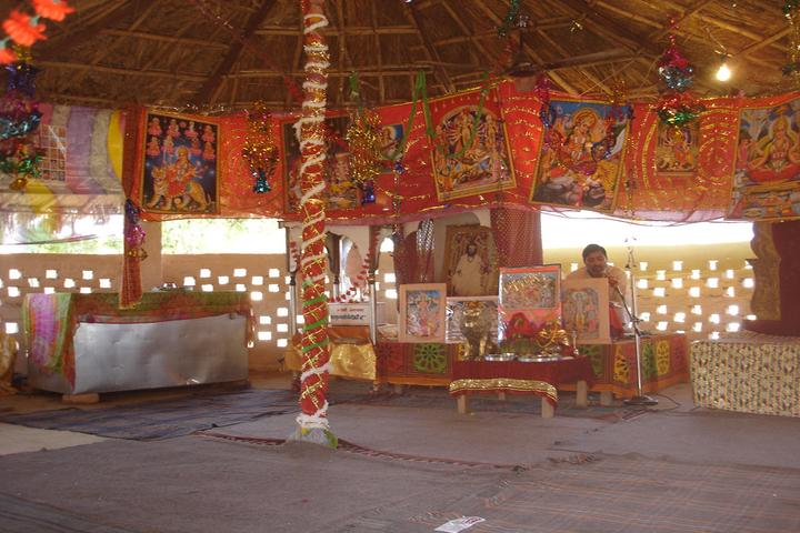 Sh Guru Gang Devji Model School-Inside Temple