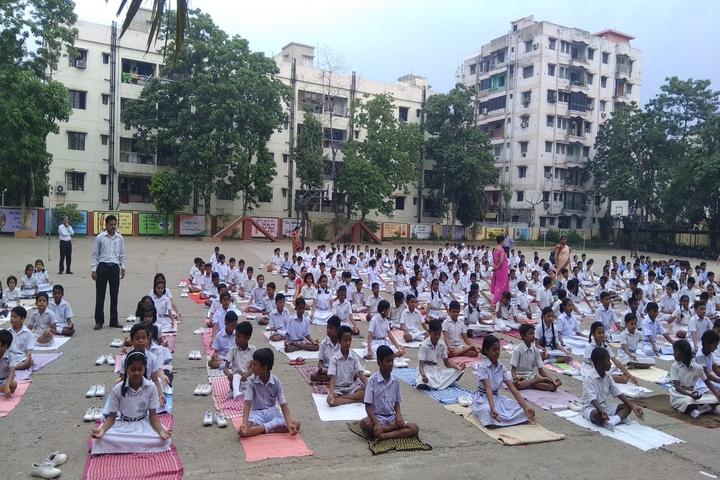B S S Pranav Children World-Yoga Day