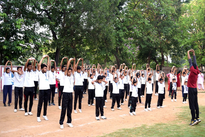 Crescent Public School-Yoga Activity