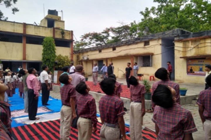 D A V Public School-Yoga Day