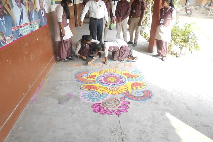 Dav Public School-Rangoli-Competition