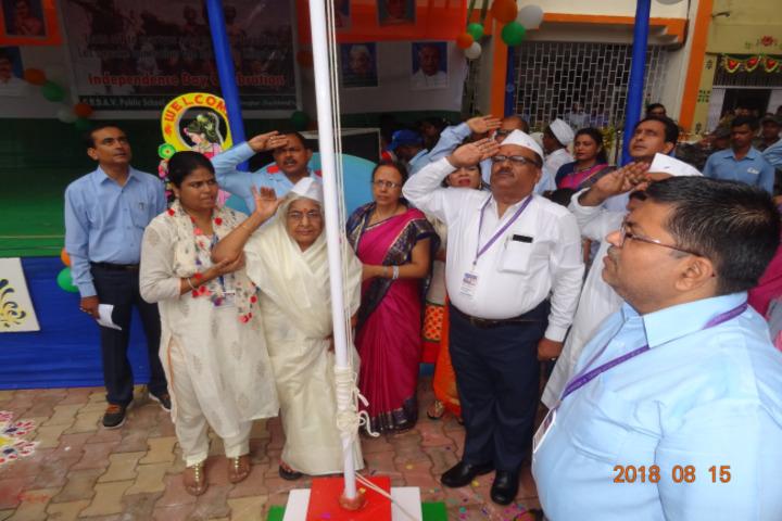 Geeta Devi Dav Public School-Flag Hoisting