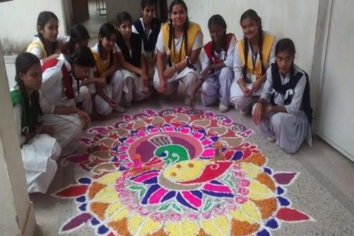 Govindram Kataruka School - Rangoli Competition