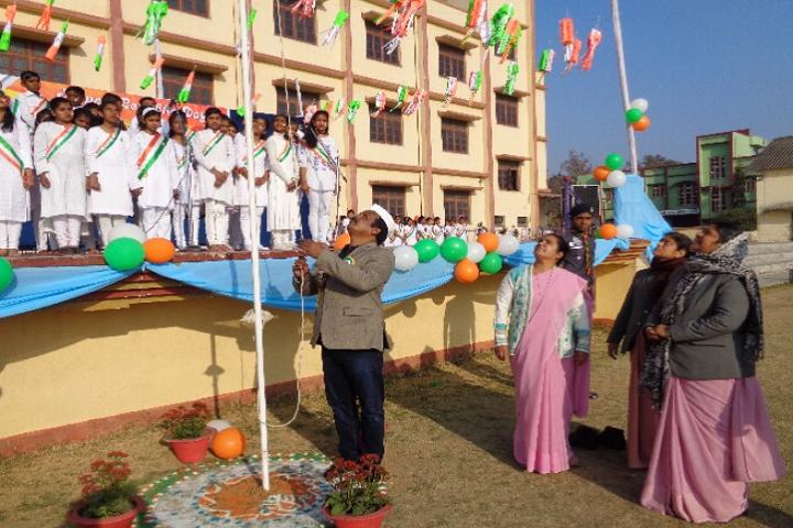 Holy Cross School-Flag Hoisting