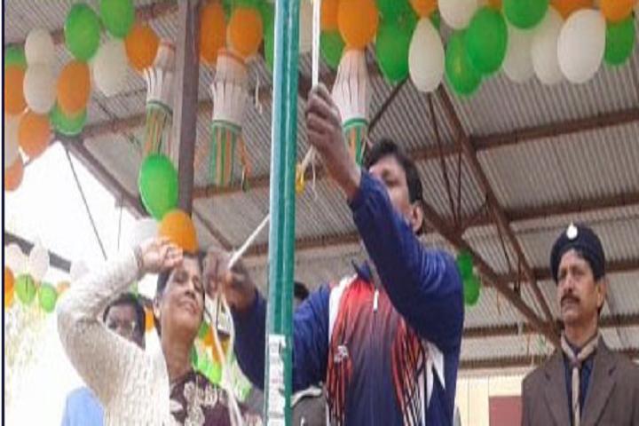 Kendriya Vidyalaya-Flag Hoisting