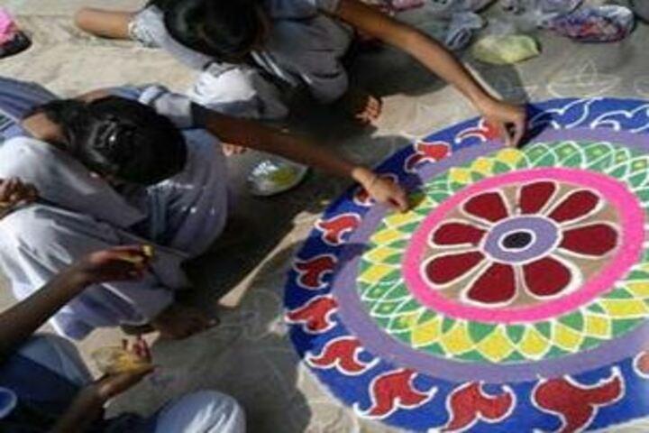 Krishna Sudershan Central School-Rangoli