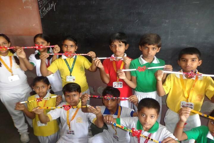 Lord Krishna School-Rakhi Making Activity