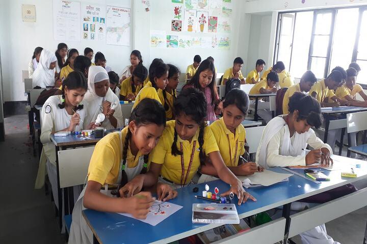 Adarsh Vidyalaya-Drawing Activity