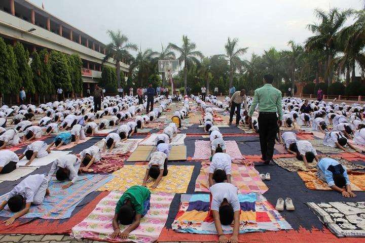 M K Dav Public School-Yoga Activity