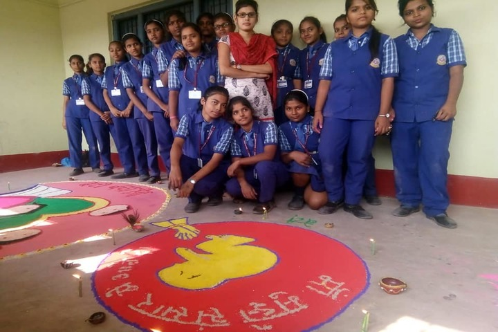 Manjula Sharma Memorial Academy-Rangoli Competition