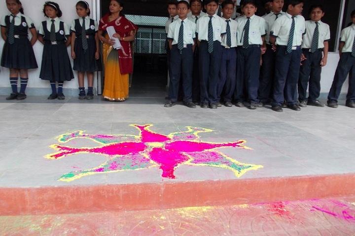 Mount Litera Zee School-Rangoli Competition