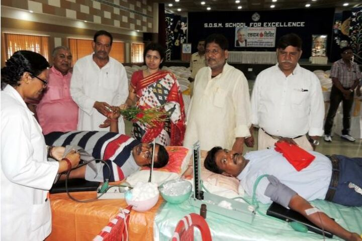 S D S M School For Excellence-Blood Donation Camp