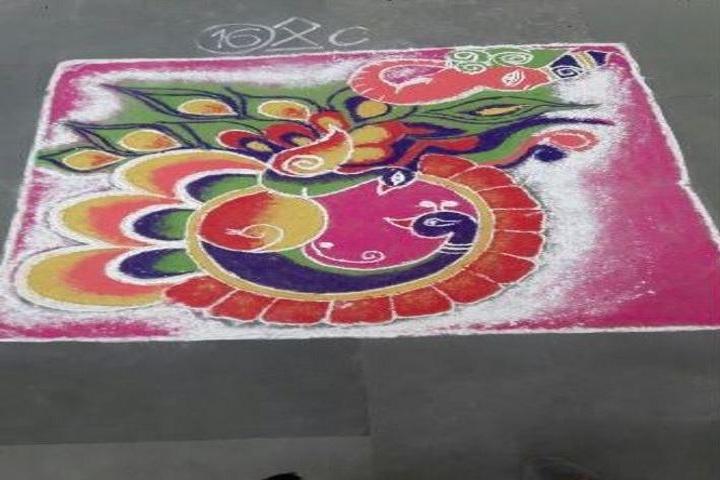 SR Dav Public School-Rangoli Competition