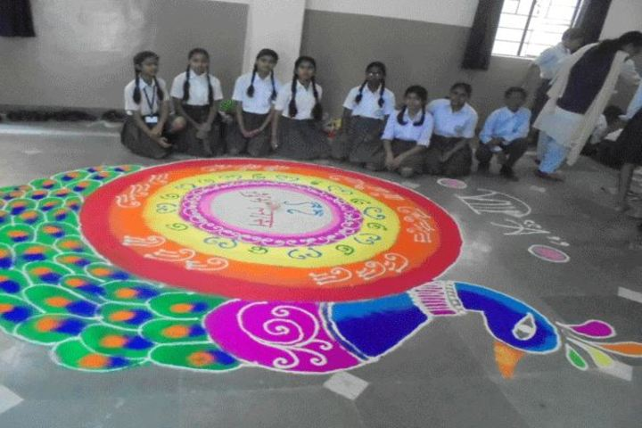 Sachidanand Gyan Bharti Model School-Rangoli Competition