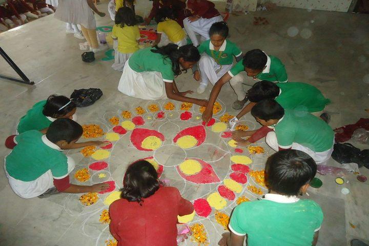 Savitri Devi D A V Public School-Rangoli Competition