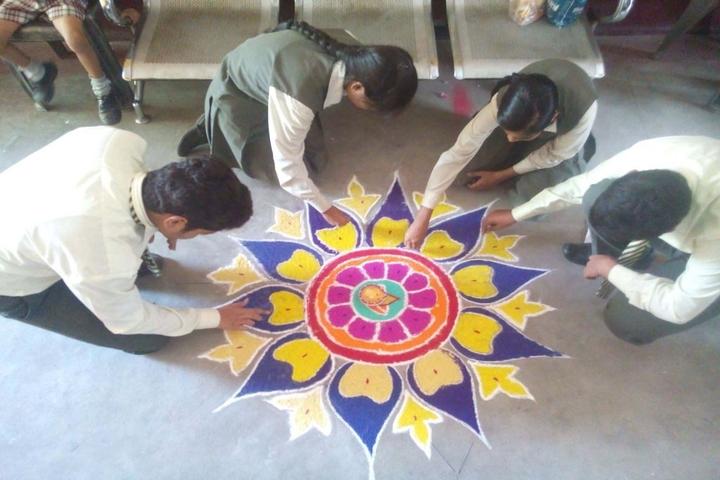 South Point School-Rangoli