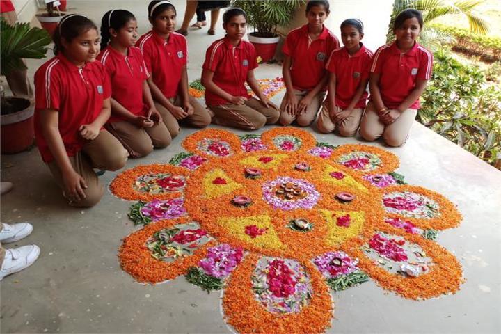 St XavierS High School Deoghar-Rangoli
